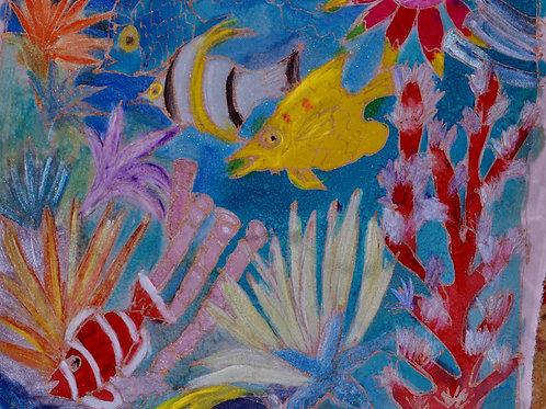 Yellow reef scene 14x18