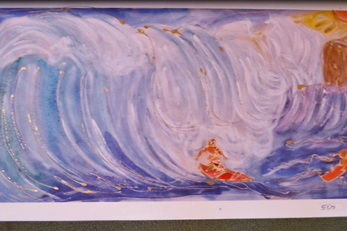 Surfer and Wave giclee