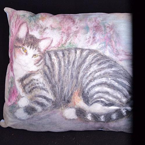 Striped Cat 1 16x18