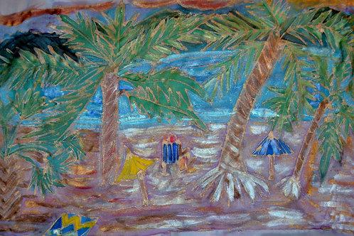Palm trees 1 12x22
