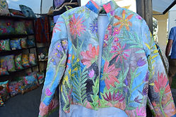Jacket Front Tropical Birds and Flowers.