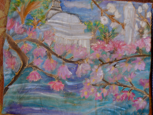 Jefferson monument in Spring 14x18