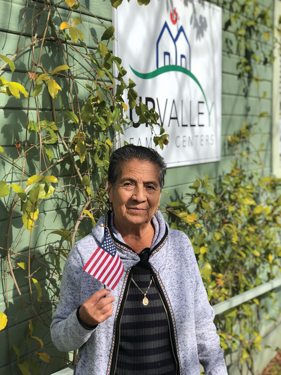 Maria, a long-time resident of Calistoga, became a US citizen and voted for the  first time in June 2018.  Photo credit: UpValley Family Centers