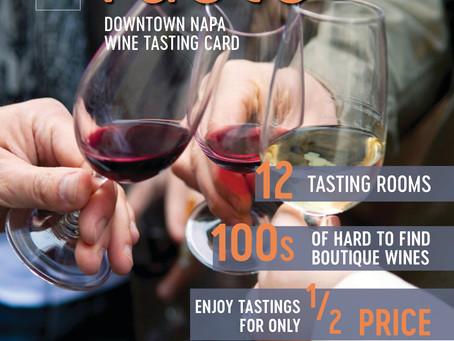 Taste - Napa Downtown Wine Card