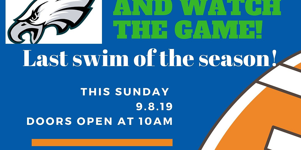 Eagles Tailgate Fundraiser-Swim:BBQ:Watch the Game!