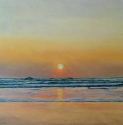 Sunset at Mawgan Porth