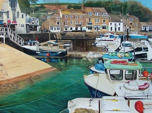 Padstow Harbour- Greetings card
