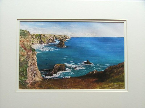 Bedruthan Steps- printed on canvas paper