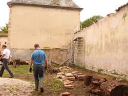 Réfection des murs de clôture