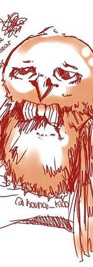 As i doodle on my way to art friends...._Hoody's little brother__#sketch #kuroki_oc #owl