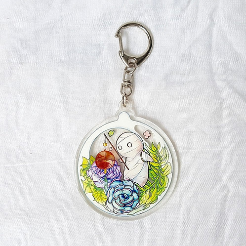 Mii-kun Terrarium keychain