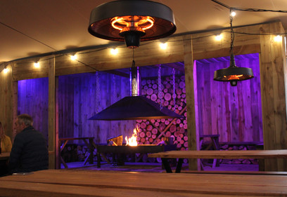 Container conversion fireplace