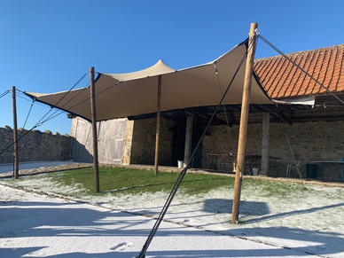 The Bake Barn stretch tent