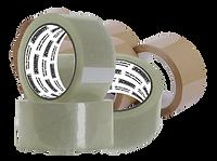 Fita PP, polipropileno, com cola acrílica de 38 e 43 micras. Usada para fechamento e lacre de embalagens.