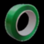 Fita de Arquear reciclada na cor verde,produzida nalargura16mmpode ser aplicada com aparelho manual usando selo metálico ou sem aplicador usando selo plástico. Ideal para caixas pesadas e que exijam maior grau de segurança.