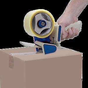 """Aplicador manual de fitas adesivas T15008 para fitas de 2"""" e T15018 para fitas de 3""""."""