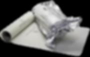 MICROGARD® Enhanced Packaging PE Sheets (folha) São fornecidos em rolos contendo 1.000 peças no formato de 25,0 x 25,0 (cm) propiciando envolverprodutos mais sensíveis a mofos.