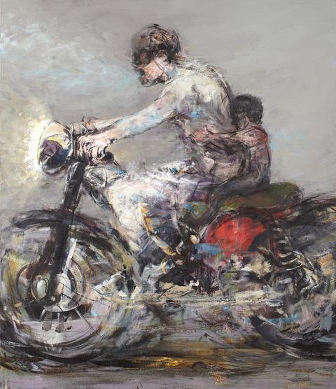riders, huile sur toile, 204 x 176 cm, 2