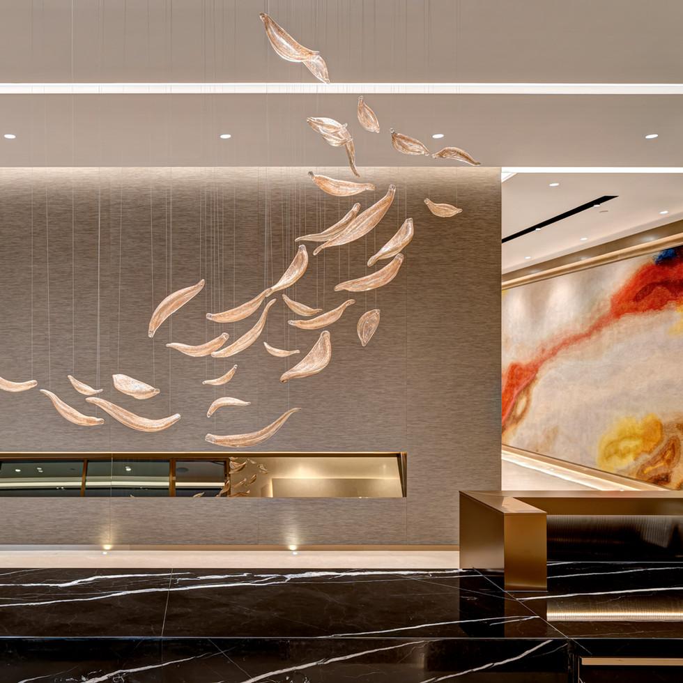 Huaxia Bank Hong Kong Branch interior office design by YO Design