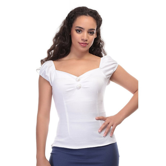 Collectif Gypsy Style Top White
