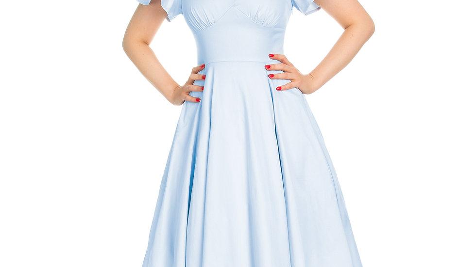 H&R London Baby Blue Swing Dress