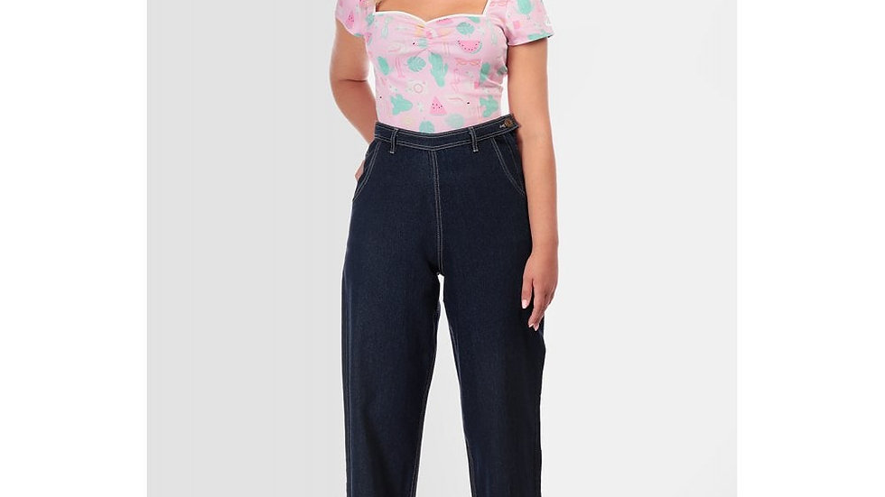 Collectif Siobhan Jeans. Navy