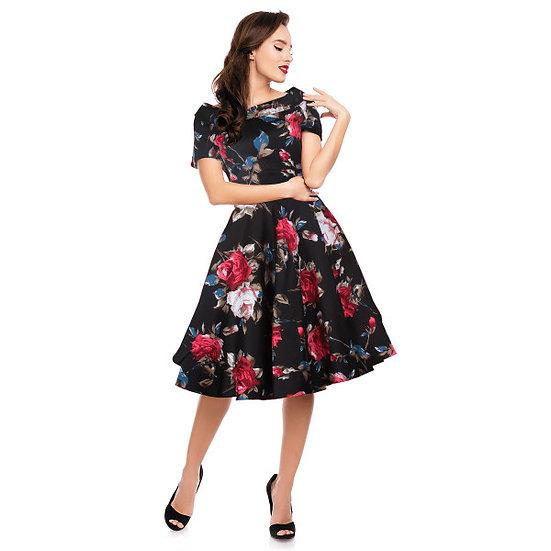 50s Floral Swing Dress