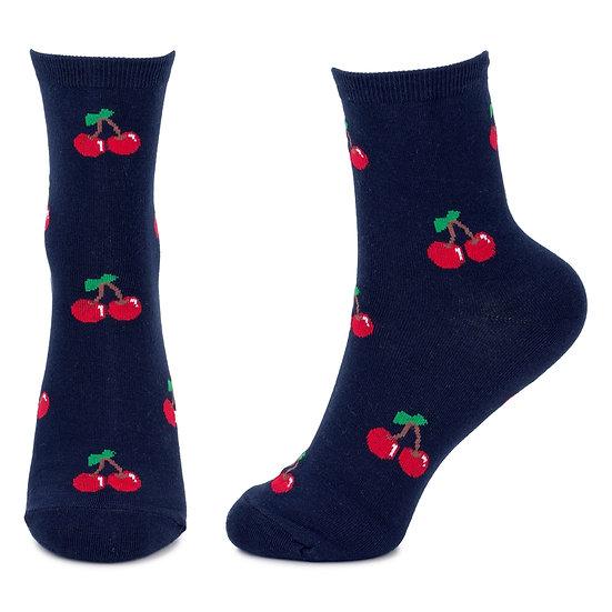 Cute Cherry Print Socks