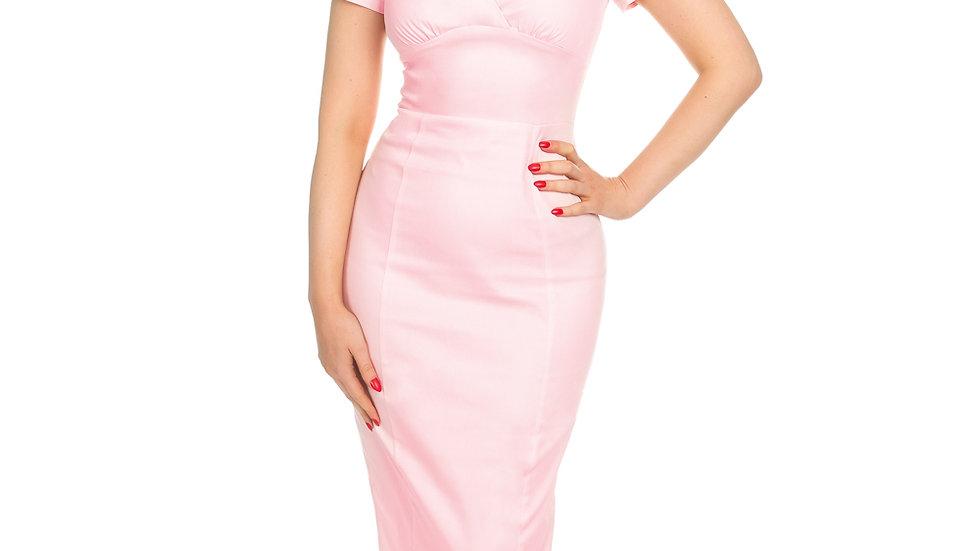 H&R London Baby Pink Pencil Dress