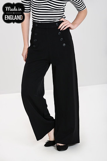 Hell Bunny Swing Trousers -NAVY
