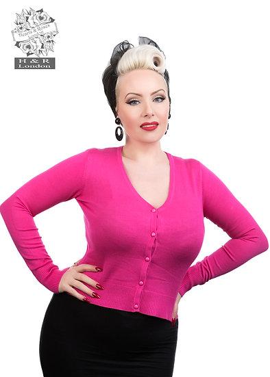 H&R London Cardigan. Hot Pink