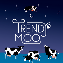 The Cow Jumps Over The Trendy Moo
