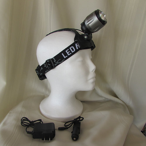 Rechargeable head light  - telescopic