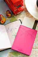 passport holder with boarding pass envelope