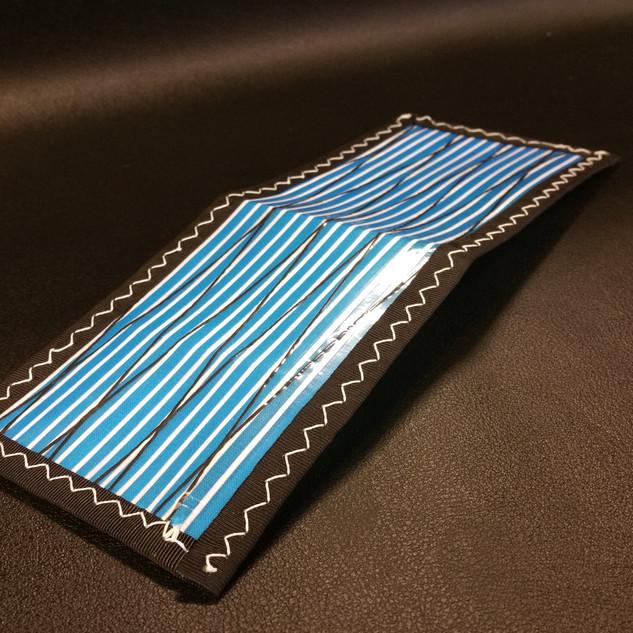 Stripped Blue White Stitching