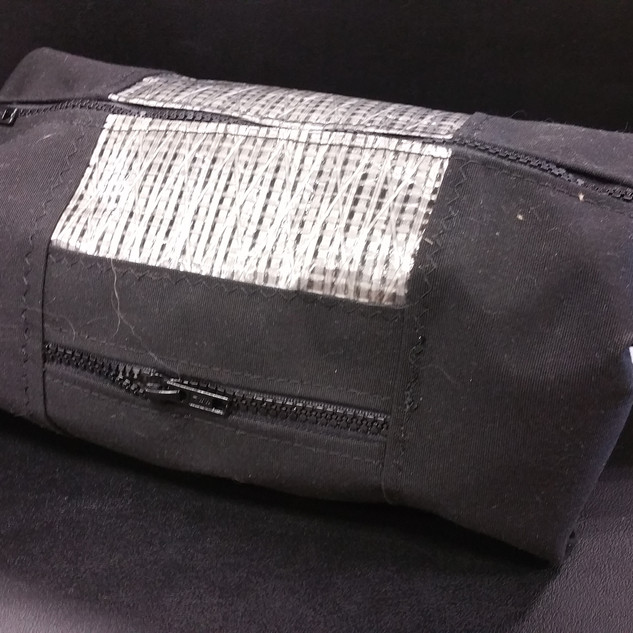 Black Toiletry Bag with Sail Cloth