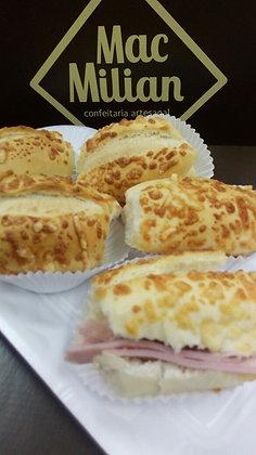 Mini Lanche no Pão Francês com Parmesão