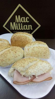 Mini Lanche no Pão Francês com Gergelim