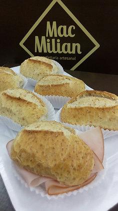 Mini Lanche no Pão Francês Integral