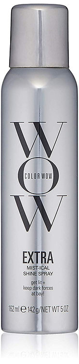 COLOR WOW EXTRA Mist-ical Shine Spray for All Hair Types, Thermal Protection