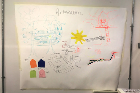 Illustrations by students at the collaborative design workshop