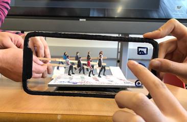 Low-Fi prototype of AR Experience