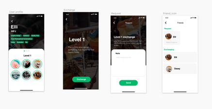Screens of concept digital product