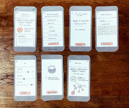 Low-Fi prototypes of digital product