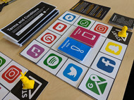 Board game designed for qualitative research about the value of digital information