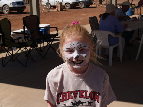 Face Painting at Our 2012 BBQ