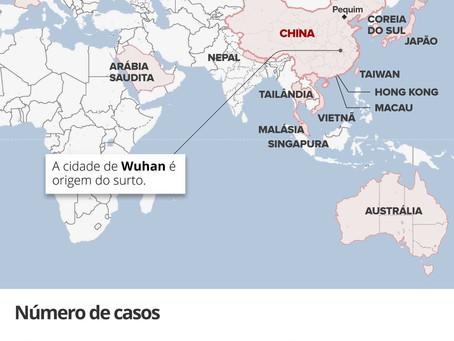 Novo Mapa do coronavírus no mundo.