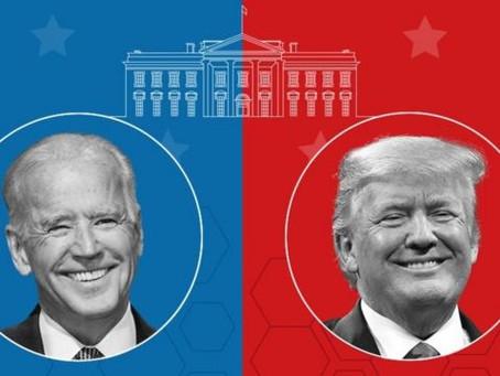 Trump x Biden , começa a Eleições nos EUA.
