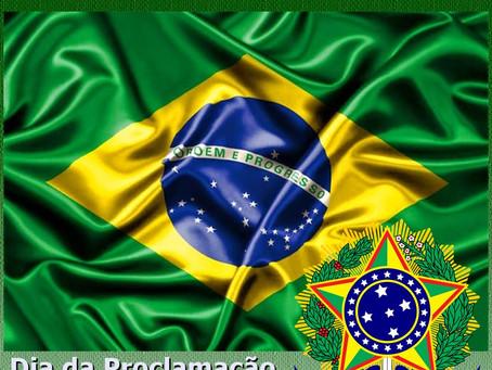 Dia 15 de Novembro dia da Ploclamação da República.