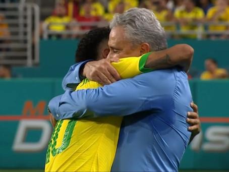 Neymar faz 1 Gol ,mas o Brasil empata com a Colombia em Amistoso.